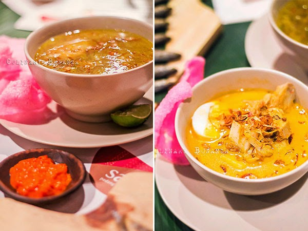 Left: Soto Padang | Right: Lontong Sayur Padang (Culinary Bonanza)