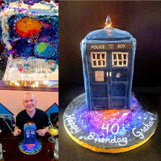 Graham Sedam, blog, thoughts, life, interests, writing, Doctor Who, Tardis, Birthday, Birthday cake, turning 40 years old