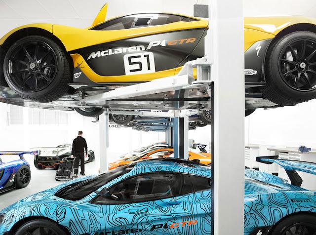 世界に35台しか存在しない「マクラーレンP1 GTR」の専用施設はこんな感じ!