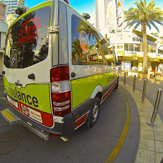Ambulance with Palm Tree