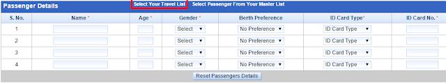 Passenger Details