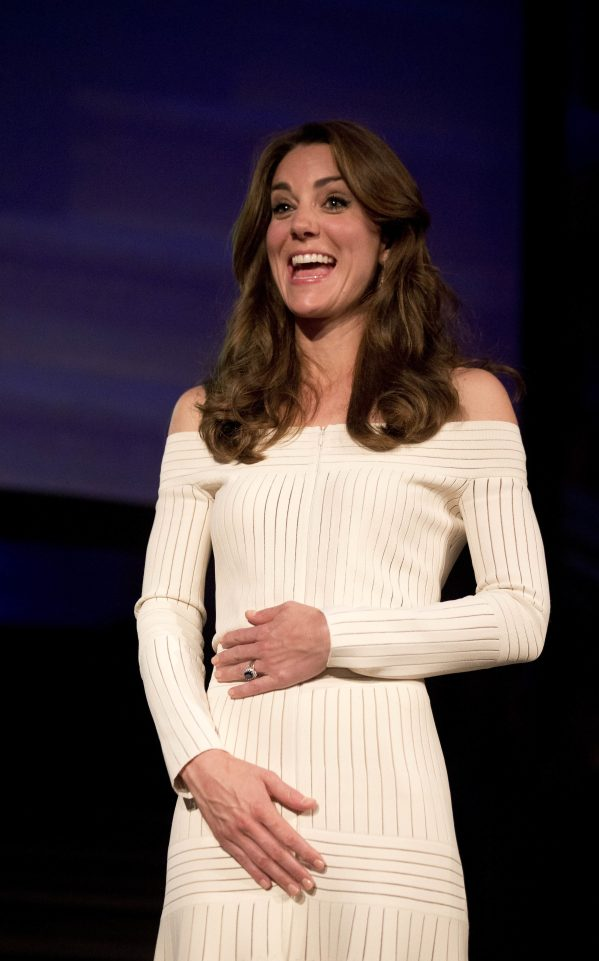 Duchess of Cambridge dazzles in a sexy Bardot dress as she attends a glitzy award ceremony in London