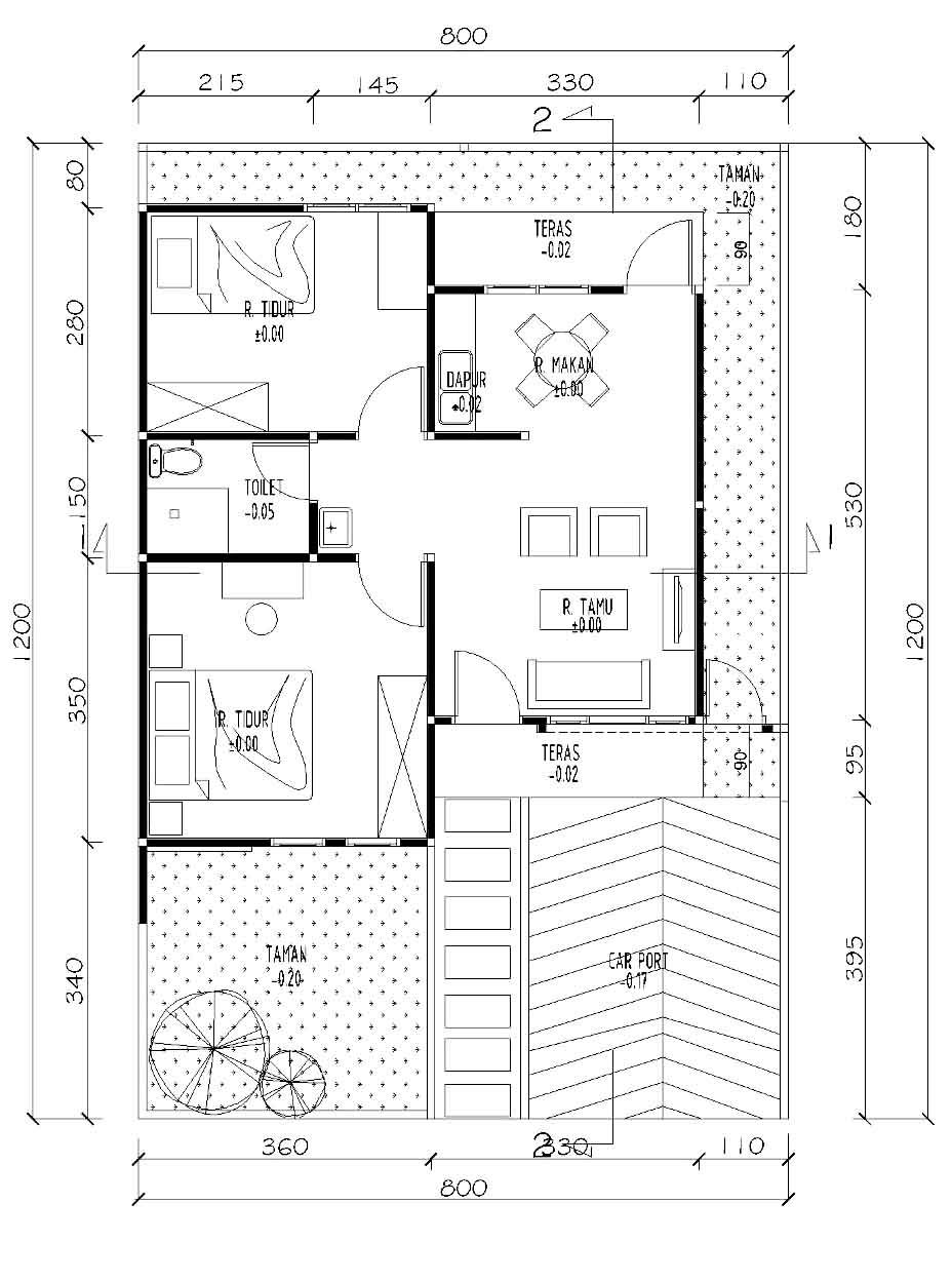 Image Result For Contoh Gambar Denah Rumah Type Lantai