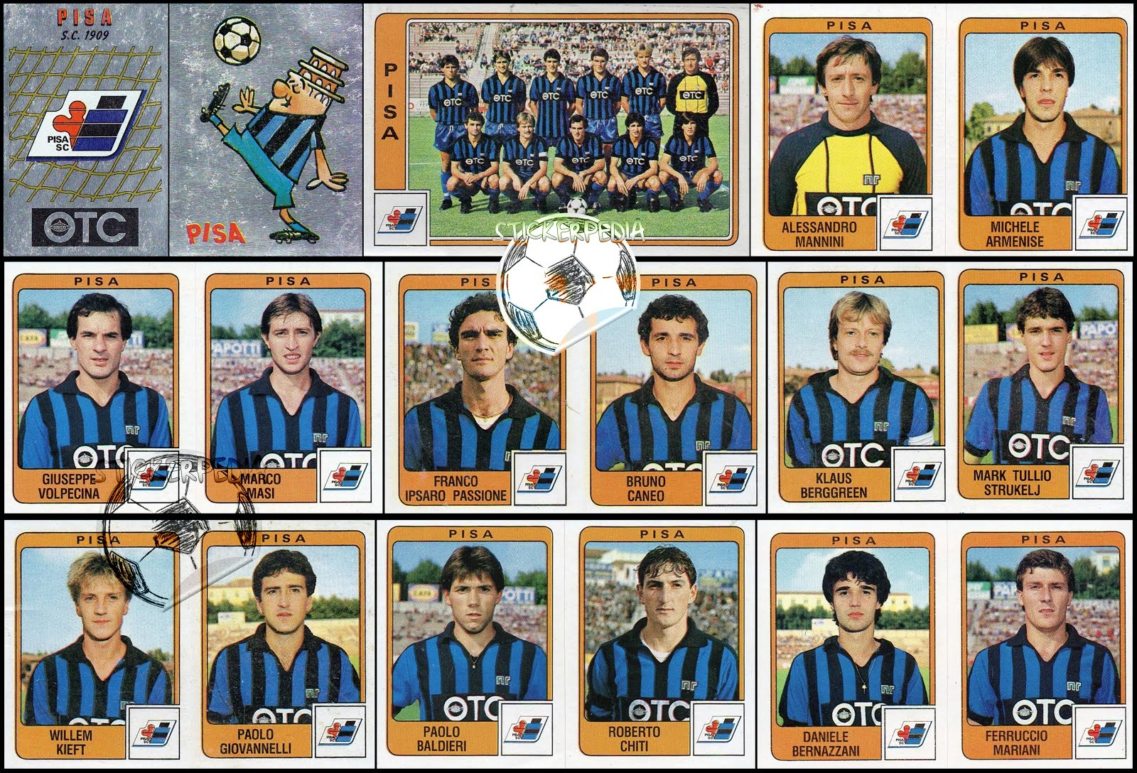 Calciatori panini serie b winners for Serie a table 1984 85