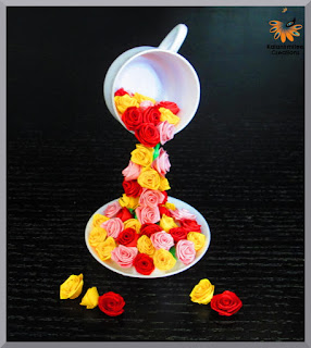 kalanirmitee: paper quilling- 3D quilling - quilled folded roses- quilled miniatures- quilling ideas-quilled flowers- tutorial