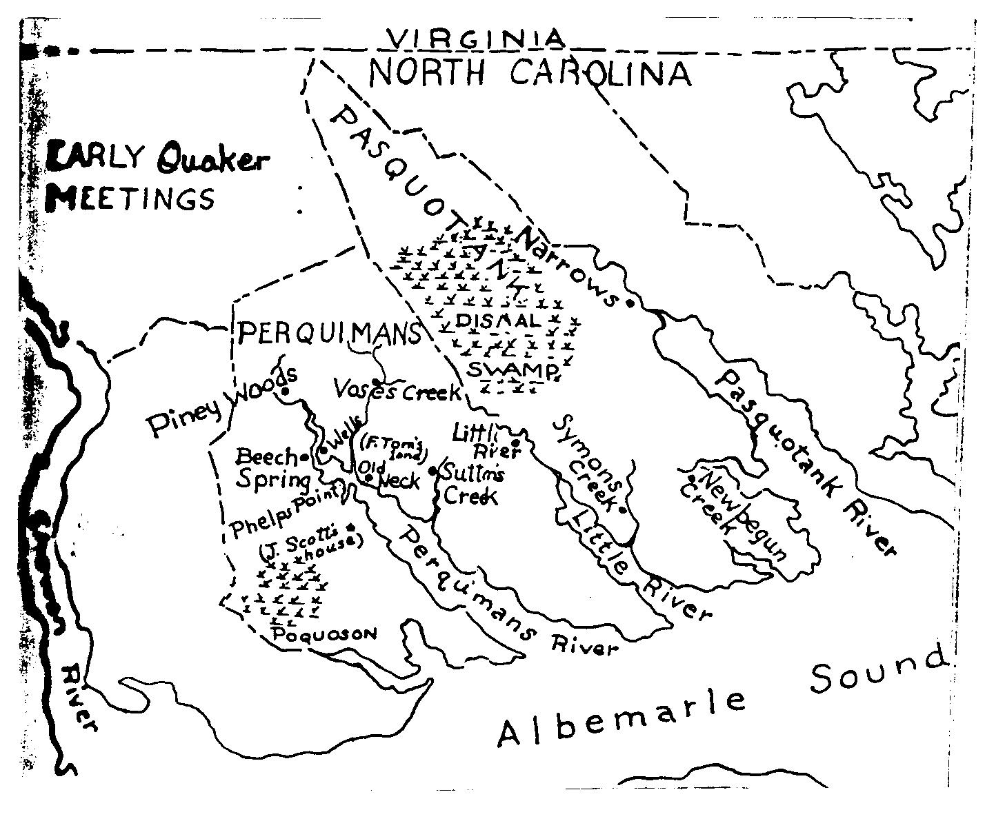 Northeastern North Carolina Stories Early Quakers In