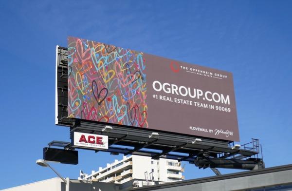 O Group Love wall billboard