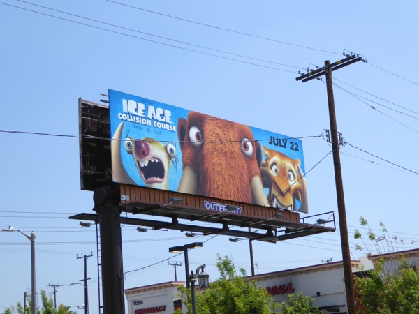 Ice Age Collision Course movie billboard