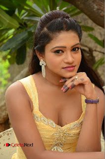 Bannisha Pictures in Yellow Dress at Lovers Park Movie Opening