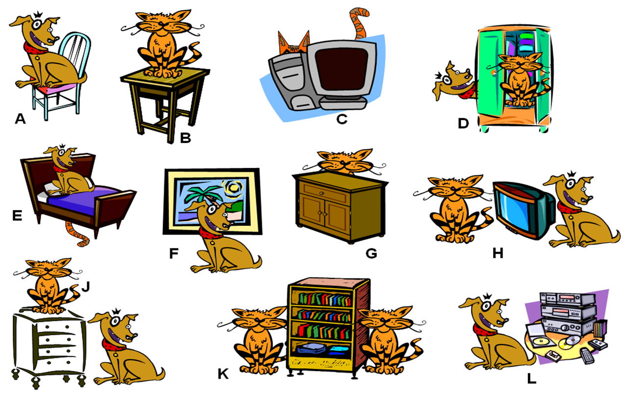 The Interactive English Classroom Prepositions Of Place