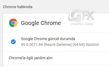 Chrome 59 Güncellemesi