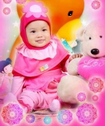 Gambar baju muslim bayi perempuan yang lucu