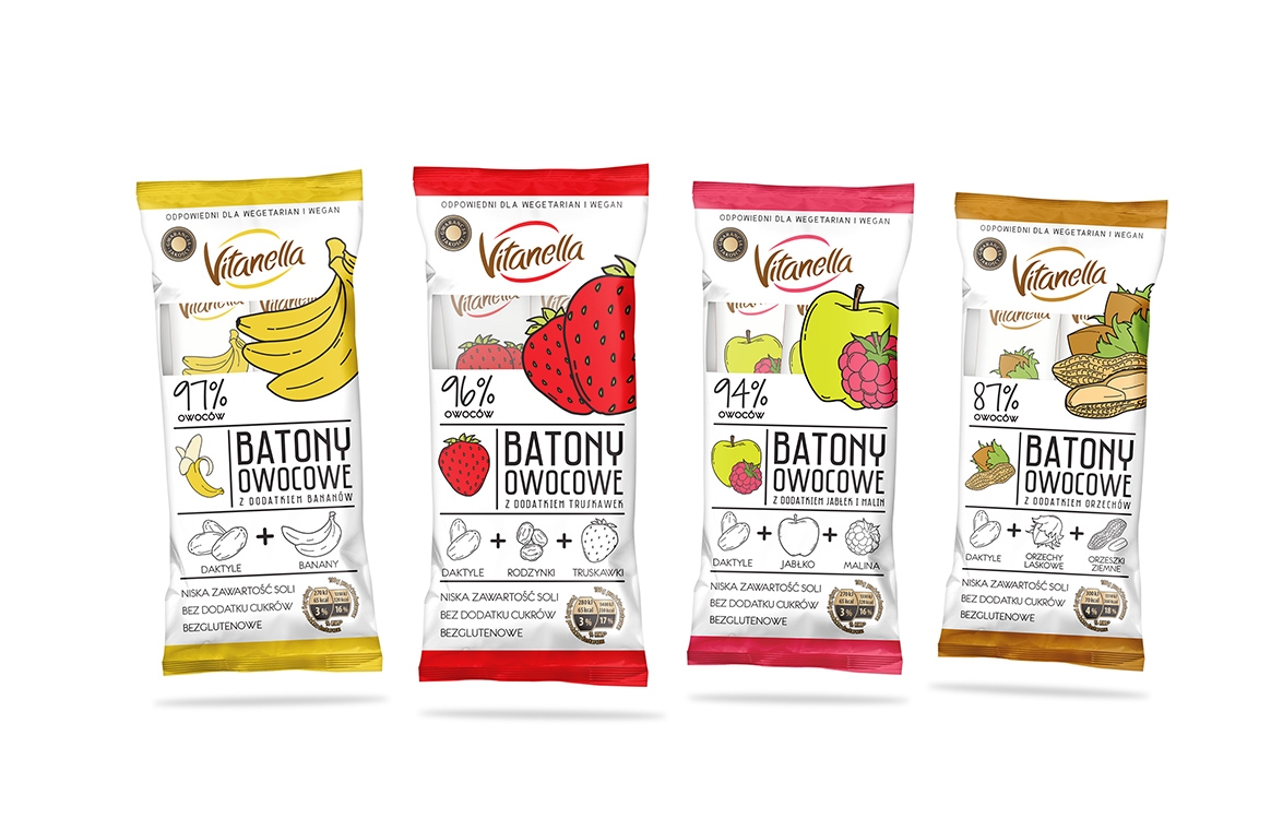 Vitanella fruit bars on packaging of the world creative for Food bar packaging