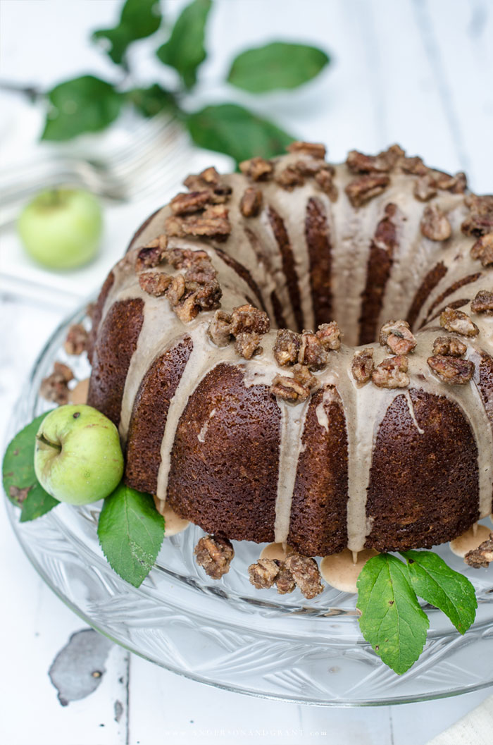 Apple Cider Bundt Cake with Cider Glaze