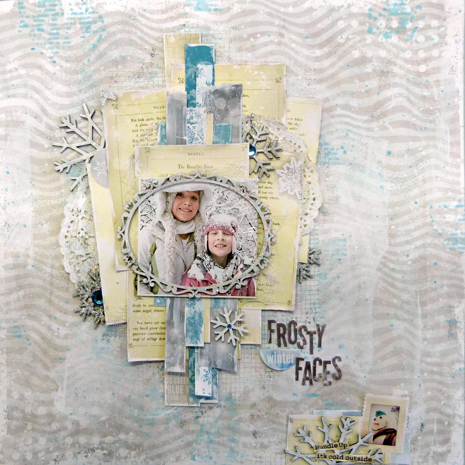 frosty faces scrapbook page tracee provis bo bunny altitude 01