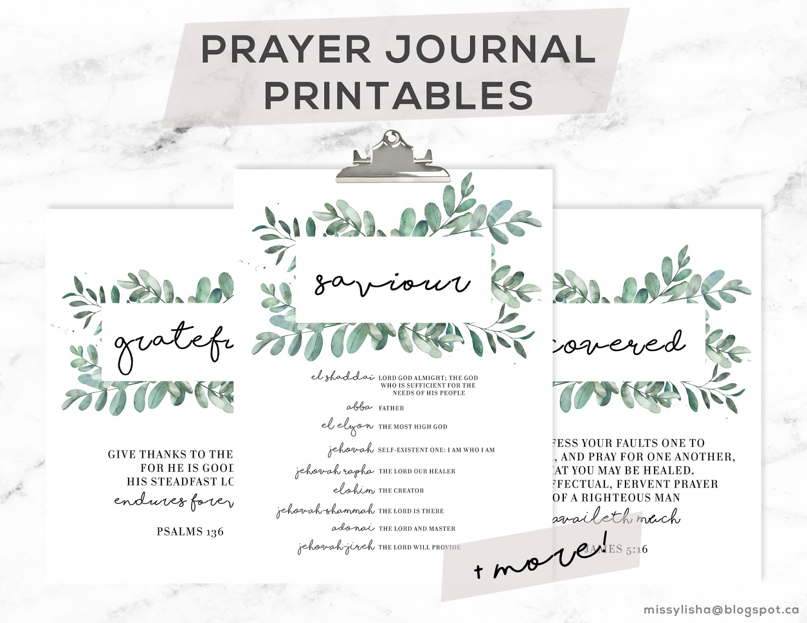 graphic about Printable Prayer Journals called Missylisha: Prayer Magazine Printables