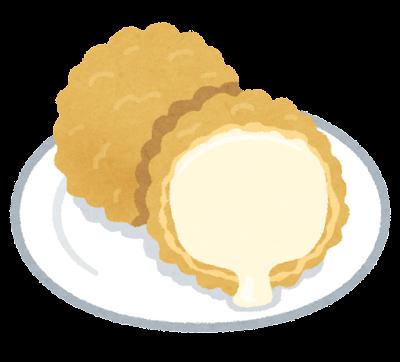 アイスの天ぷらのイラスト