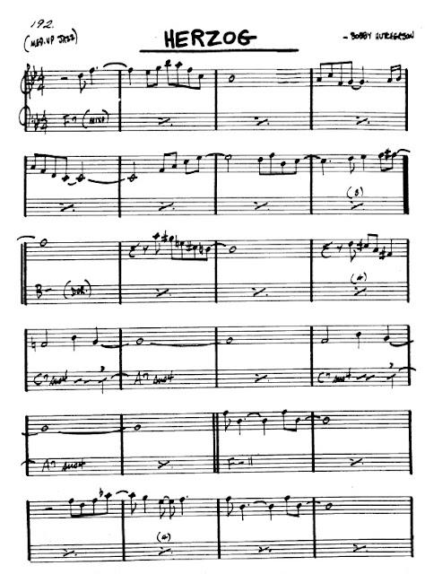 Partitura Flauta Bobby Hutcherson