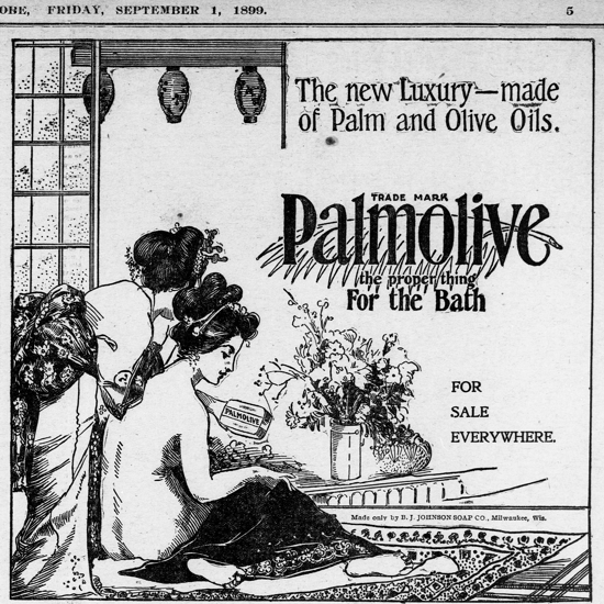 Palmolive Soap, ad September 1, 1899