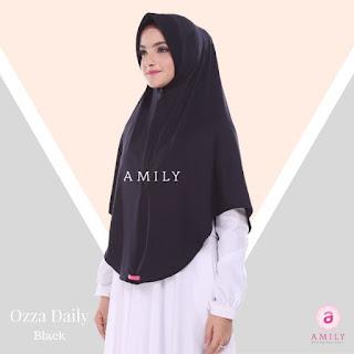 Hijab Amily Ozza Daily Black