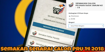 Semakan Senarai Calon PRU 14 2018 BN PAS PKR DAP AMANAH WARISAN