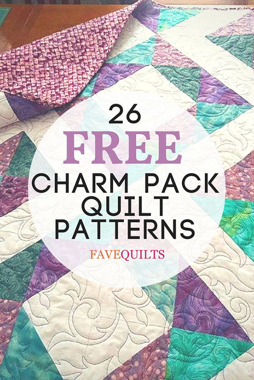 26 Charming Charm Pack Quilt Free Patterns