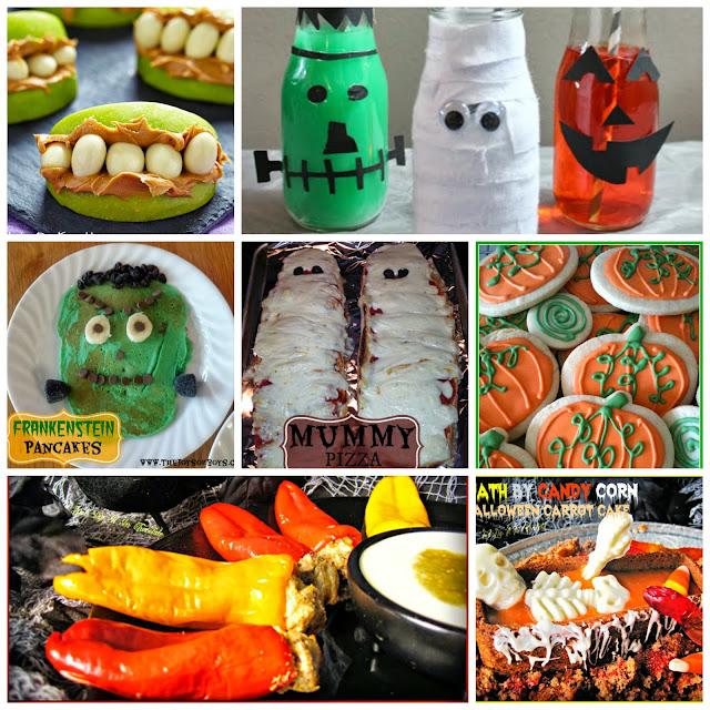 Halloween Food Round Up at www.SumosSweetStuff.com #halloween #recipes #food
