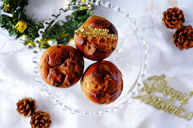 Mini Panettone Bread 潘妮朵妮面包 | www.cherienoms.com