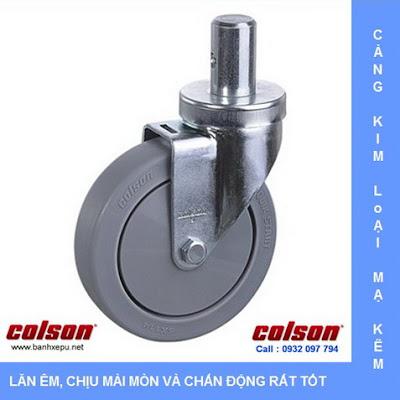 Bánh xe đẩy cao su trục tròn Colson Mỹ phi 125 - 5 inch | 2-5651-448 www.banhxedayhang.net