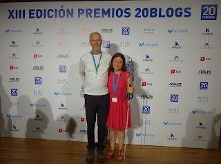 Richard y Rocío en los Premios 20 Blogs