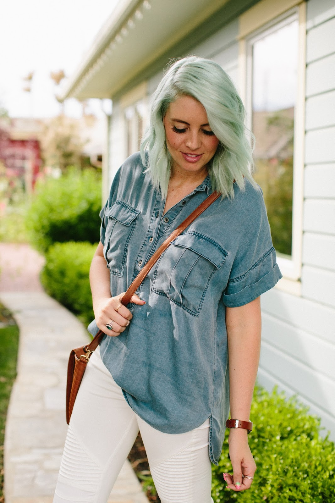 Old Navy, Denim Shirt, Modest Outfit