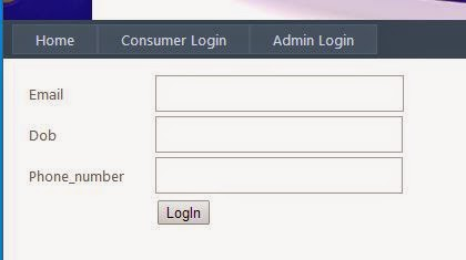 consumer login panel of complaint management