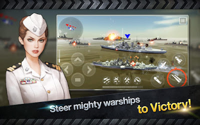 WARSHIP BATTLE : 3D World War II Apk mod baru