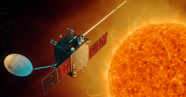 To ensure a robust capability to monitor, nowcast and forecast potentially dangerous solar events, ESA has initiated the assessment of two possible future space weather missions.  This assessment foresees positioning spacecraft in orbit at the L1 and L5 Lagrangian points - points in space where gravitational forces and the orbital motion of the spacecraft, the Sun and Earth interact to create a stable location from which to make observations. Credit: ESA/A. Baker, CC BY-SA 3.0 IGO