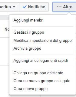 Tasto Altro Facebook