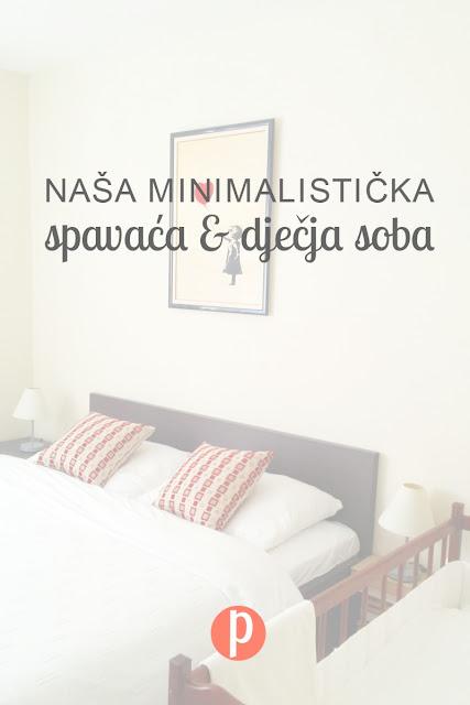 Minimalistička spavaća i dječja soba