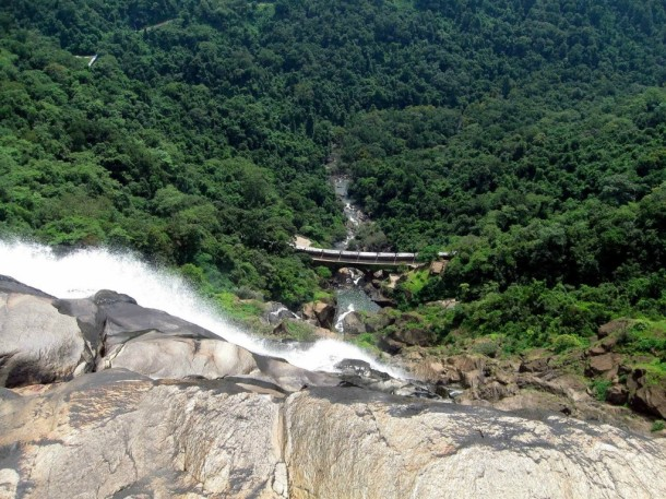 Railway Under A Waterfall in South Goa