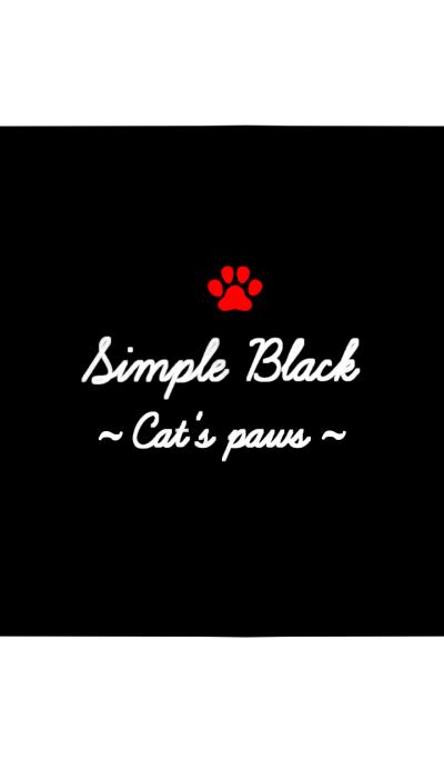 Simple Black. ~Cat's paws~