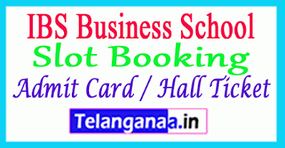 Slot Booking IBSAT Admit Card / Hall Ticket