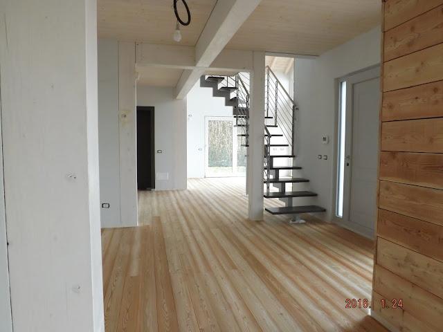 casa di legno soggiorno