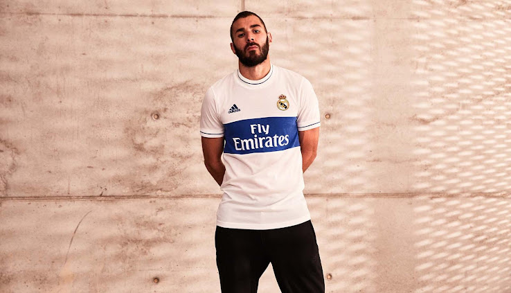8f3c8b38 ... Real Madrid, Karim Benzema and Adidas revealed the special Adidas Real  Madrid Icon Shirt. The other shirts of the 2018 Adidas Icon jersey  collection are ...