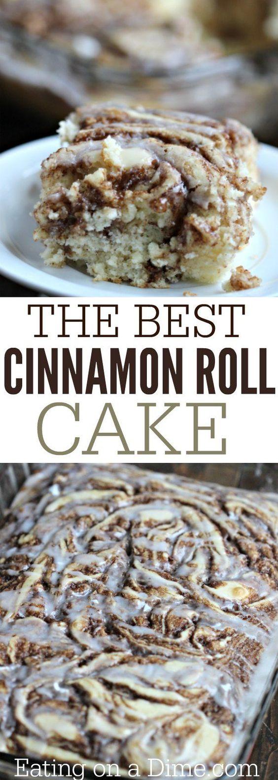 EASY COFFEE CAKE RECIPE – THE BEST CINNAMON ROLL CAKE RECIPE #easyrecipes #coffe #cake #coffecake #cakerecipes #thebest #cinnamon #roll #dessert #dessertrecipes