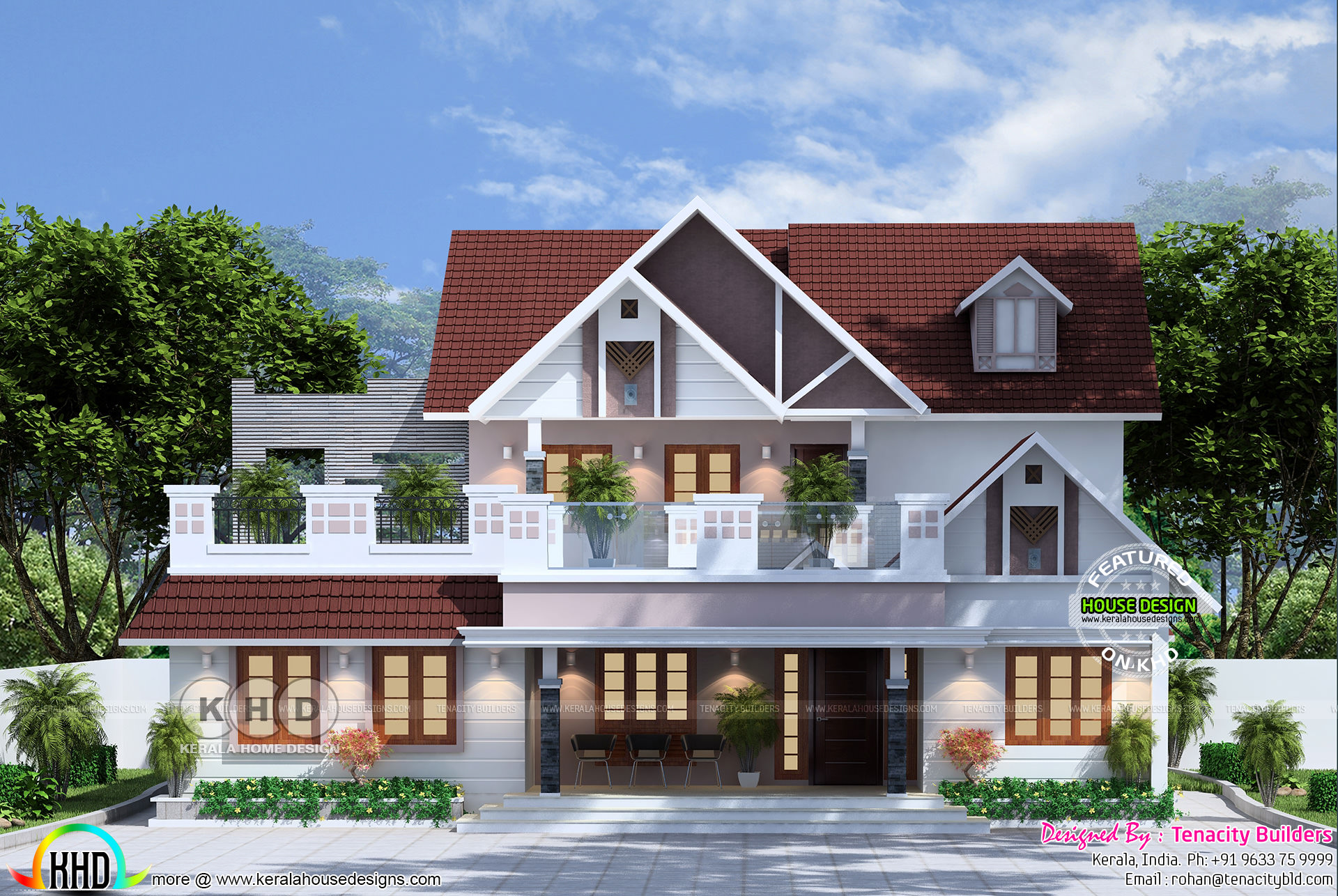 4 Bedroom Mixed Roof Home Part - 21: First Floor Area : 700 Square Feet. Total Area : 1900 Sq.ft. No. Of Bedrooms  : 4. Design Style : Modern Mixed Roof. House Location : Kalamassery, Kerala