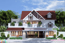 Awesome 1900 Square Feet 4 Bedroom Home Kerala
