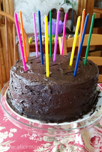 birthday cake, chocolate, cake, candles, dessert