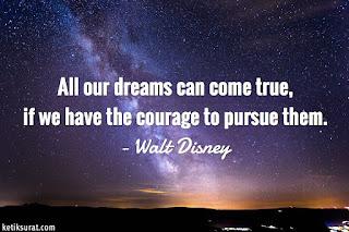 quotes tentang impian dan terjemahannya