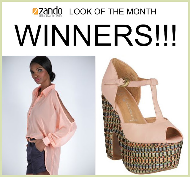 ZANDO Look of the Month Giveaway WINNERS!!!