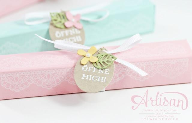Tisch Geschenke mit Delicate Details von Stampin Up