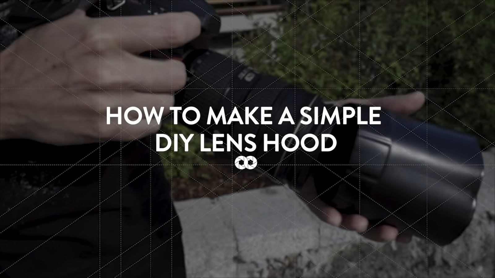 How to make a simple DIY lens hood