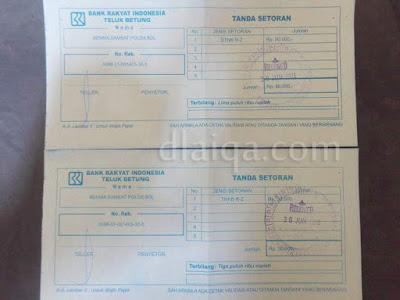 bukti pembayaran STNK dan TNKB